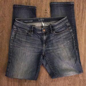 Ann Taylor Loft size 28/6 modern straight jeans